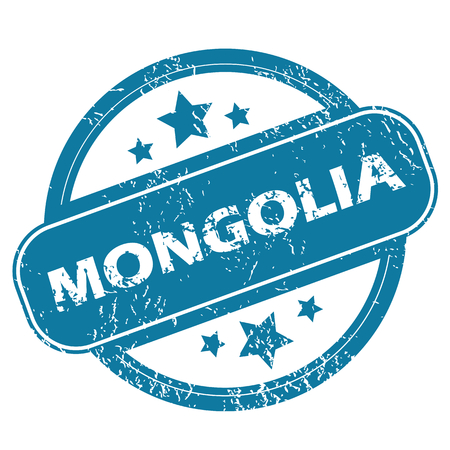 mongolia: MONGOLIA round stamp Illustration