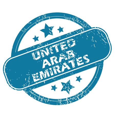 emirates: UNITED ARAB EMIRATES round stamp