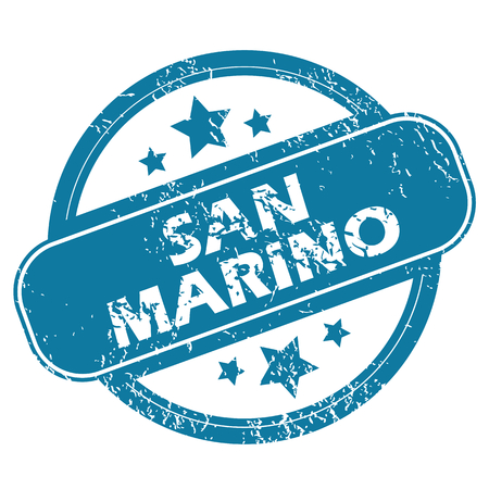 marino: SAN MARINO round stamp