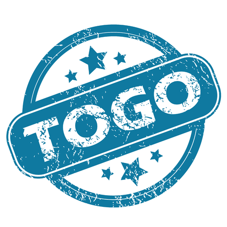 togo: TOGO round stamp