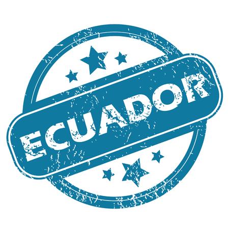 ecuador: ECUADOR rond stempel Stock Illustratie
