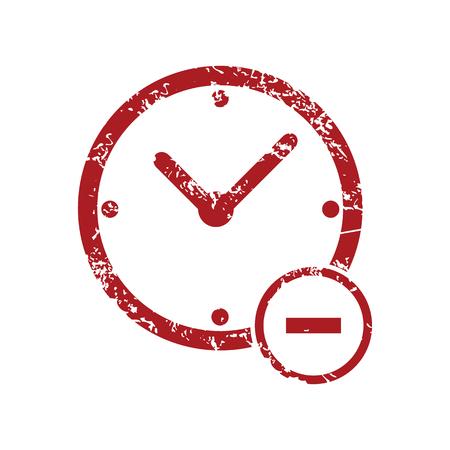reduce: Reduce time red grunge icon Illustration