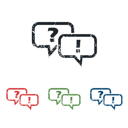question and answer: Question answer grunge icon set