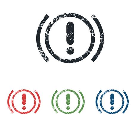 alerta: Grunge Alerta conjunto de iconos Vectores