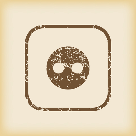 grungy: Grungy socket icon Illustration