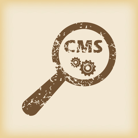 cms: Grungy CMS search icon