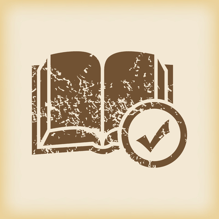 grungy: Grungy select book icon