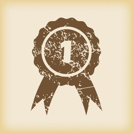 corroboration: Grungy first place icon Illustration