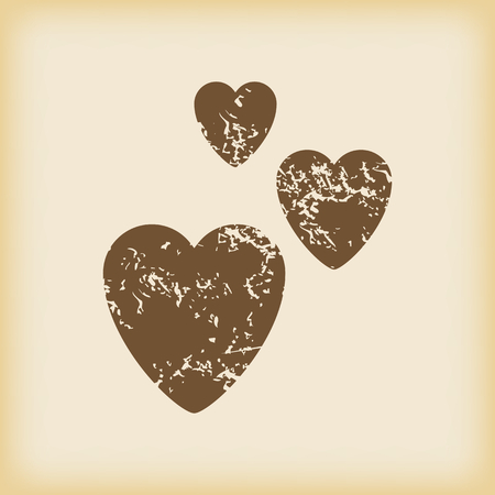 torn heart: Grungy love icon