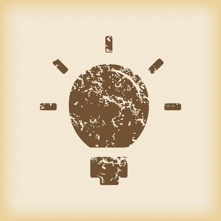 Grungy lightbulb icon Vector