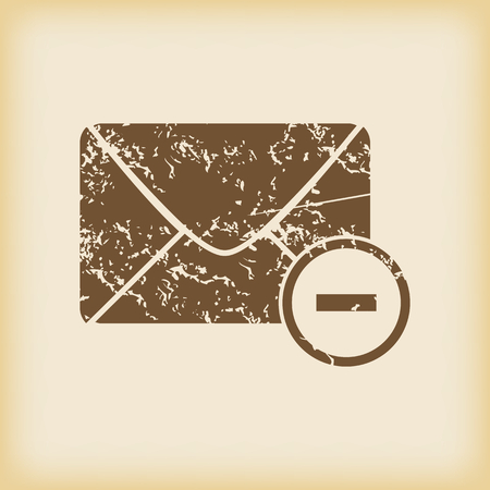 grungy email: Grungy remove letter icon Illustration
