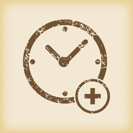 grungy: Grungy add time icon