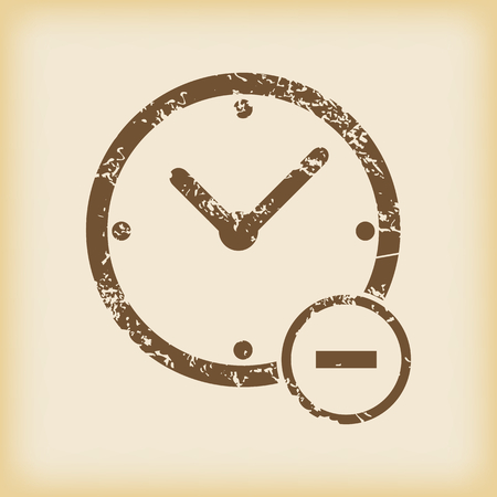 time icon: Grungy reduce time icon Illustration