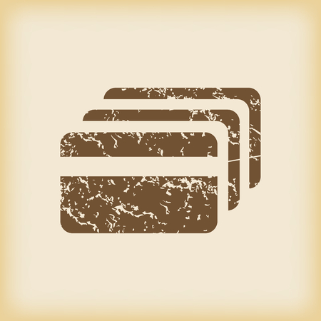 cashless payment: Grungy credit card icon