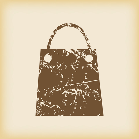 grungy: Grungy shopping bag icon