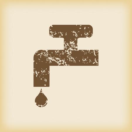 watertap: Grungy watertap icon