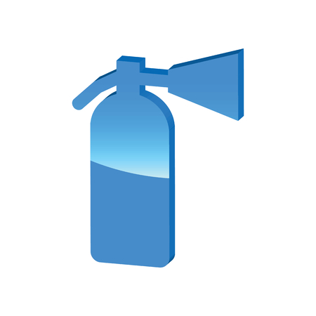 burn out: Fire extinguisher blue 3D icon