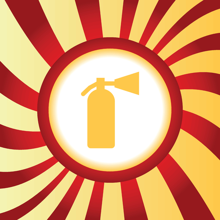 conflagration: Fire extinguisher abstract icon