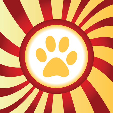 curved leg: Paw print abstract icon