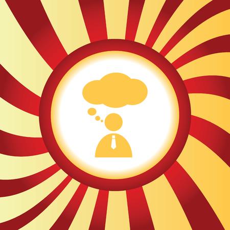 denkender mensch: Thinking Person abstrakten Symbol Illustration