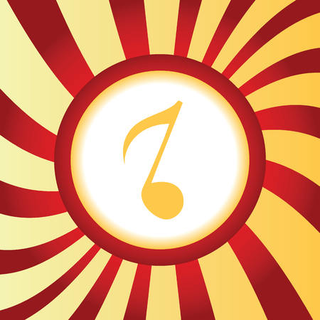 eighth: Eighth note abstract icon Illustration