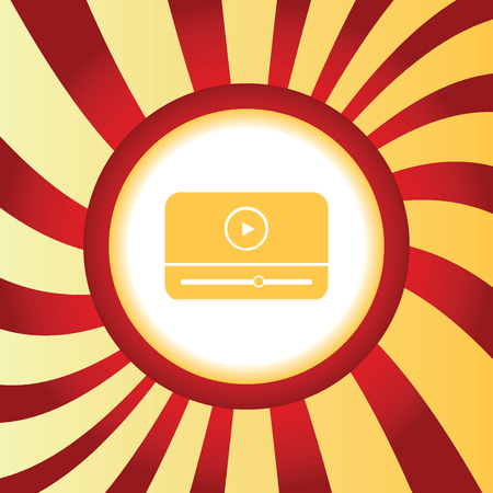 windows media video: Mediaplayer abstract icon Illustration