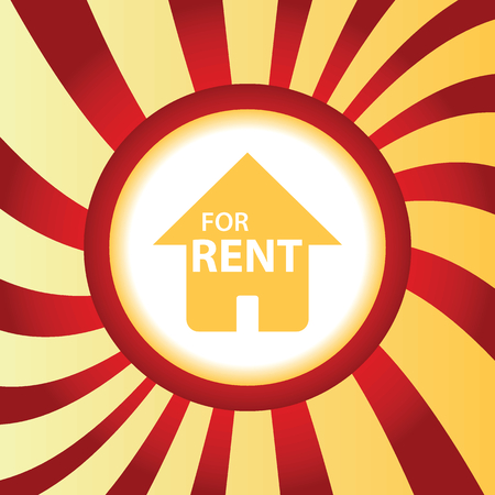 business for the middle: FOR RENT abstract icon
