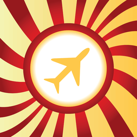 middle air: Plane abstract icon Illustration