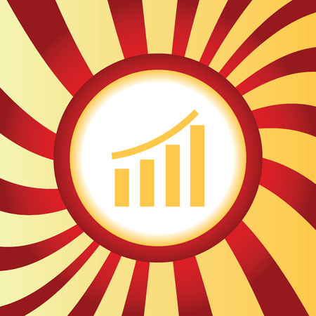 graphic: Financial graphic abstract icon Illustration