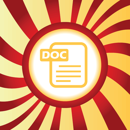 doc: DOC file abstract icon Illustration