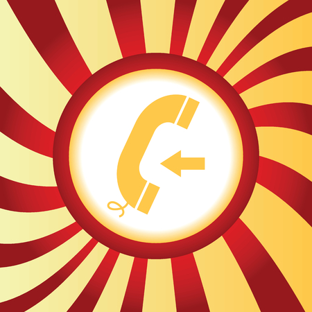 incoming: Incoming call abstract icon Illustration