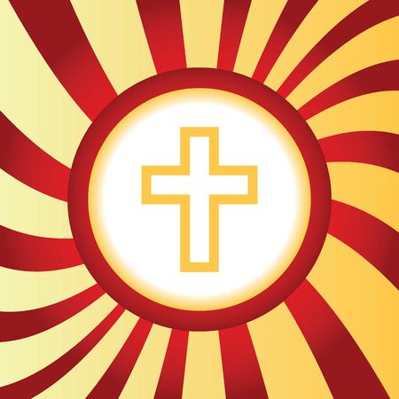 christian cross: Christian cross abstract icon
