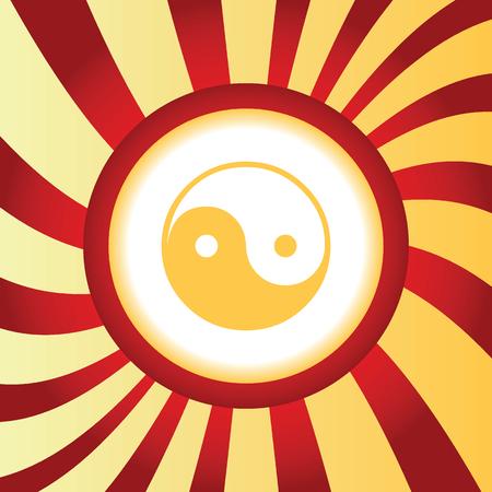Ying-yang abstract icon