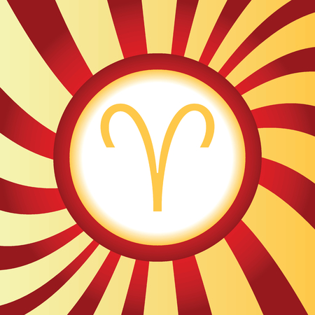 ecliptic: Aries abstract icon Illustration