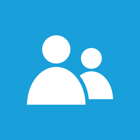 pictogram people: Contacts icon