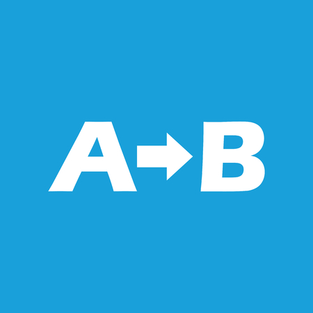 derivation: A to B icon