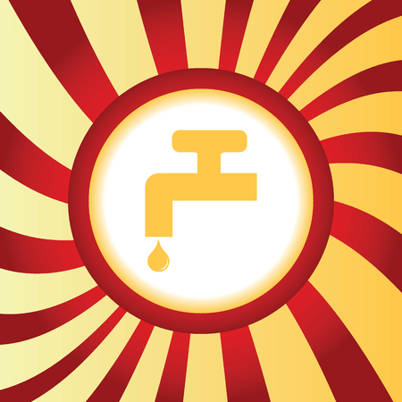 stopcock: Water tap abstract icon