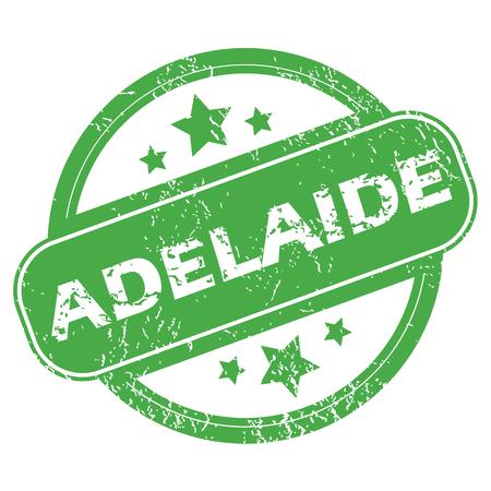 adelaide: Adelaide green stamp Illustration