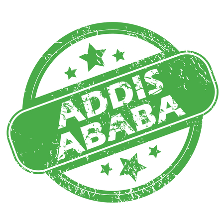 ababa: Addis Ababa green stamp