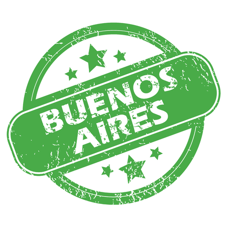 aires: Buenos Aires green stamp