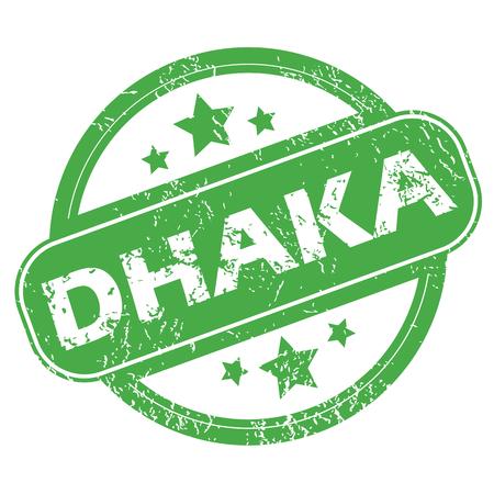 dhaka: Dhaka green stamp Illustration