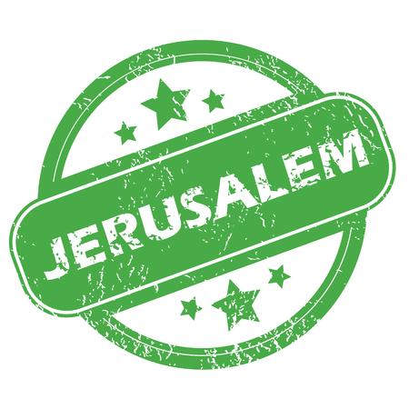 jeruzalem: Jerusalem groene stempel