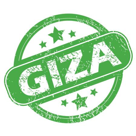 giza: Giza green stamp
