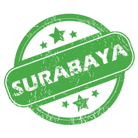 archive site: Surabaya green stamp Illustration
