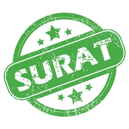 Surat green stamp Stock Vector - 41033862