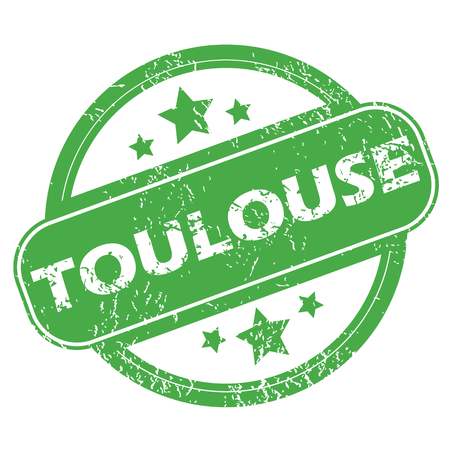 toulouse: Toulouse green stamp Illustration