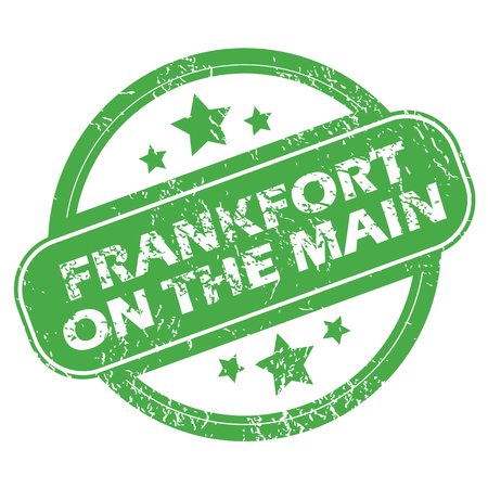 main: Frankfort on Main green stamp