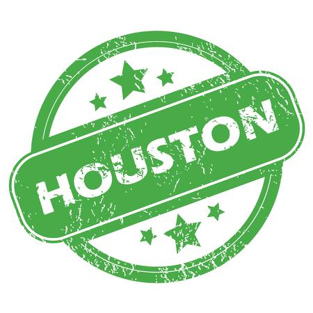 houston: Houston green stamp Illustration
