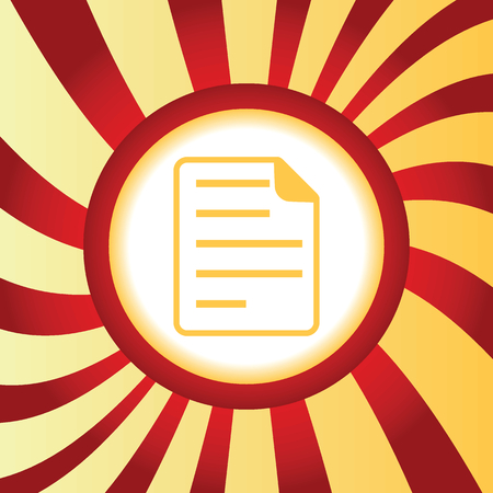 article writing: Yellow icon with image of document page, in the middle of abstract background