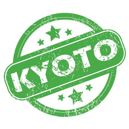 kyoto: Kyoto green stamp
